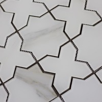 ABOLOS Nature Celestial Calacatta 9 in. x 15 in. x 6.35 mm Glass Mosaic Tile-HMDWTJCEL-CA - The Home Depot