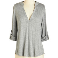 Mid-length 3 Fundamentals of Style Top in Grey