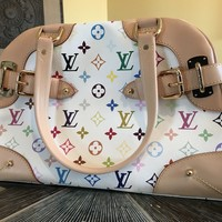 Louis Vuitton Claudia Multicolor Blanc Shoulder Bag