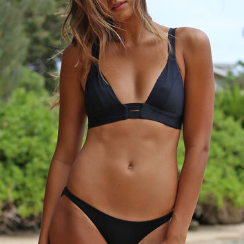 Vitamin A Swim Neutra Bralette in Black Ecolux