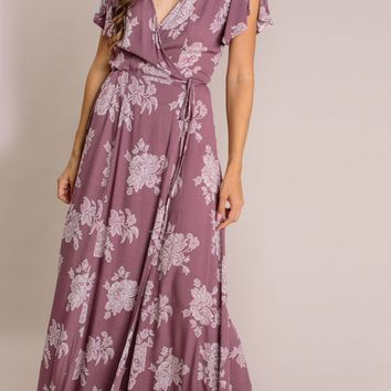 Lina Floral Wrap Maxi Dress