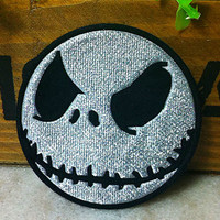 Ghost Head Jack Halloween iron on patch E0178 by happysupply