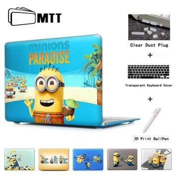 Cute Cartoon Minions Notebook Cover Case For Macbook Pro 13 Retina 15 New Mac Air 11 12 13.3 Inch Hard Shell Protective Case
