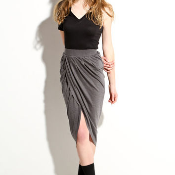 Womens shift skirt Intermix grey m l by lamixx on Etsy