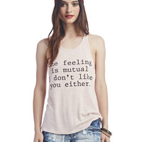 Mutual Feeling Racerback Tank | Wet Seal