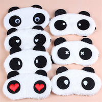 Panda Sleeping Eye Mask Nap Eye Shade Cartoon Blindfold Sleep Eyes Cover Sleeping Travel Rest Patch Blinder Color Random HB-0141