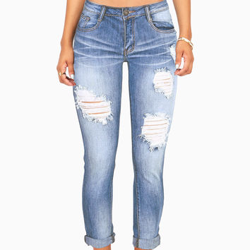 Industrial Ankle Skinny Jeans