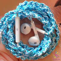 iPhone Headphones, Tangle Free Wrapped Earbuds,Custom Headphones, Tiffany Blue Earbuds for iPhone 5,5c,5s,iPhone 4,4s,Cell Phone Accessories