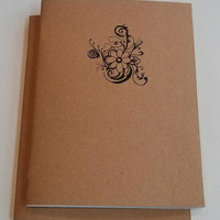 Swirly Flower Mini Notebook - diary, journal, party favors, multipack, hawaiian