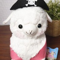 "TANZK Cool 7"" Alpaca Animal Stuffed Plush Toy Doll Pirate Hat Decor Arpakasso Alpacasso"