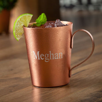 Personalized Moscow Mule Mug. Laser Engraving. Custom Aluminum/Copper Cup.
