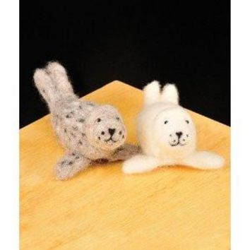 WoolPets Seal Pups Needle Felting Craft Kit