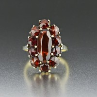 Antique Bohemian Garnet Ring 1910s