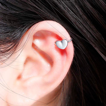 DoreenBeads 2016 Summer Heart Ear Bones Clips Earrings Ear Cuff Woman Fashion Bohemia Style 8x6mm 1Piece