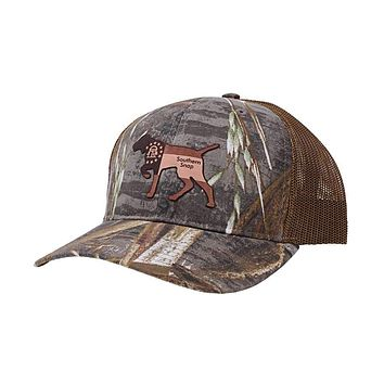 Georgia Leather Pointer Hat by Southern Snap Co.