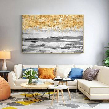 Modern Abstract art acrylic painting on canvas Gold art texture extra Large decor original Wall Pictures hand painted cuadros abstractos