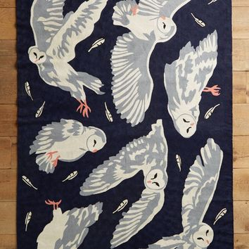 Crewelwork Night Flight Rug