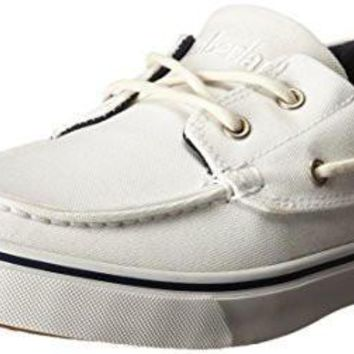 Timberland Men's Newmarket Boat Oxford,White,13 M US