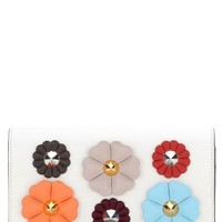 Fendi Flowerland Leather Wallet on a Chain | Nordstrom