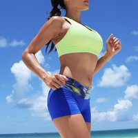 Equilibrium Activewear - Sports Bra | Neon Yellow Bra