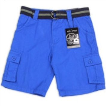 COPPER DENIM Boys Cargo Shorts-3267f-blu