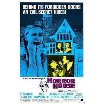 Horror House Movie poster Metal Sign Wall Art 8in x 12in