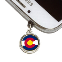 Colorado State Flag Mobile Phone Silver Charm