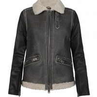 Shield Leather Biker Jacket