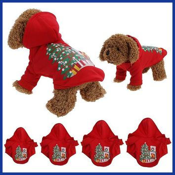Christmas Dog Clothes Santa Costume Pet Dog Christmas Clothes Winter Coat Clothing Cute Puppy Outfit for Dog Plug Sizes S-XL