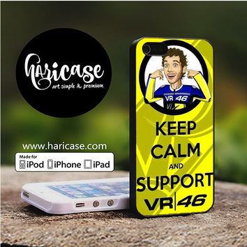 Keep Calm Support Valentino Rossi iPhone 5 | 5S | SE Cases haricase.com
