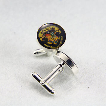 Hogwarts Cufflinks, Harry Potter   Cufflinks, Custom Photo/image /TEXT, Always your Little Girl