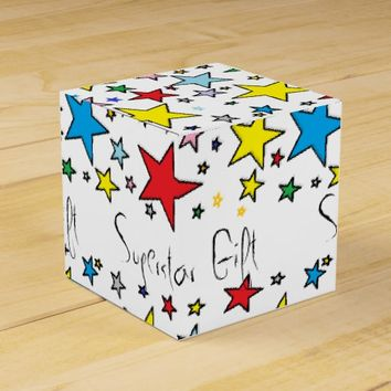 Superstar Stars Happy Pattern Paper Favor Gift Box