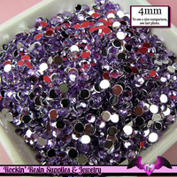 200 pcs 4 mm LIGHT PURPLE RHINESTONES Flatback Great Quality 16ss