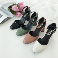 Ankle Strap Pumps by 66girls