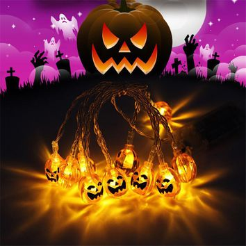 Home Decoration Led string light outdoor Halloween Pumpkin/Ghost/Skull decoration D