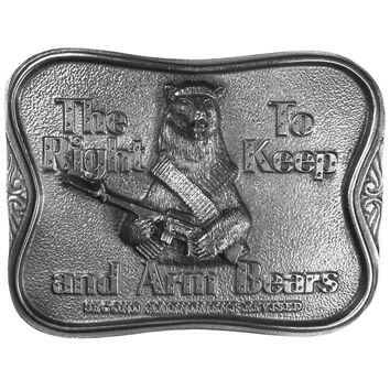 Sports Accessories - The Right To Keep and Arm Bears Antiqued Belt Buckle