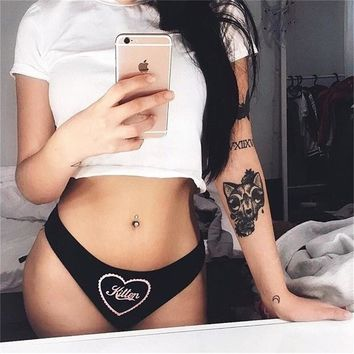 Women'S Sexy Printed Letters Underwear