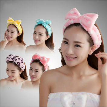 Free shipping high quality Bathroom sets women Wash a face outdoor sports comfortable flannel fabric headband hair Towel