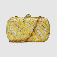 Gucci Broadway floral brocade clutch