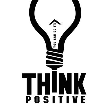 Think Positive, you can do it. Quote Vinyl Wall Decal Sticker #5296