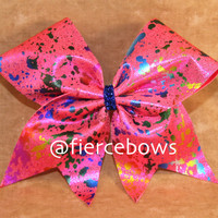Splatter Cheer Bow