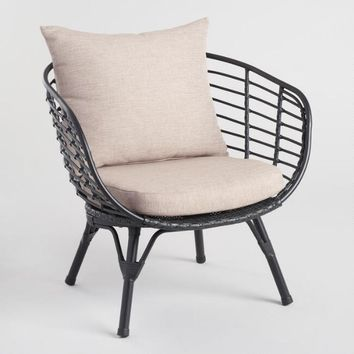 Black All Weather Wicker Negril Outdoor Occasional Chair