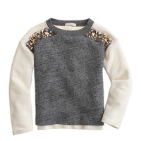 crewcuts Girls Colorblock Jeweled Sweatshirt