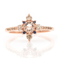 Winter Forest Morganite Ring