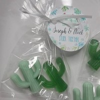 Succulent Bridal Shower, Cactus Party Favors  or Baby Shower party favors for Western Wedding Custom Made Guest Bath - Pack of 10