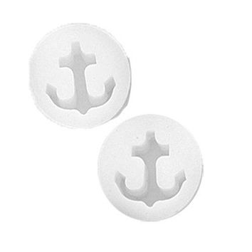 BodyJ4You Silicone Flexible Anchor Tunnel Expander Gauge Earlets White Plug 2-Pieces