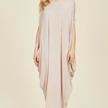 The Slouch Maxi Dress - Stone