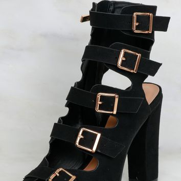 Buckle Up Heel Black