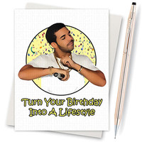 Drake. 6 God. Funny Drake Card. Funny Birthday. Boyfriend Gift. Men Birthday Card. Husband Birthday . Card For Birthday. Gift For Her. Card
