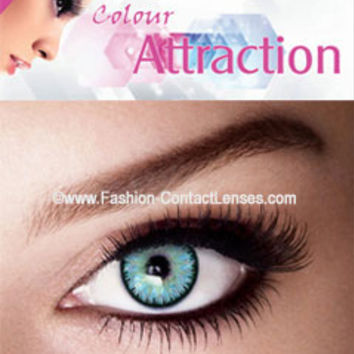Light Sapphire Color Attraction Contact Lenses change your eyes light blue